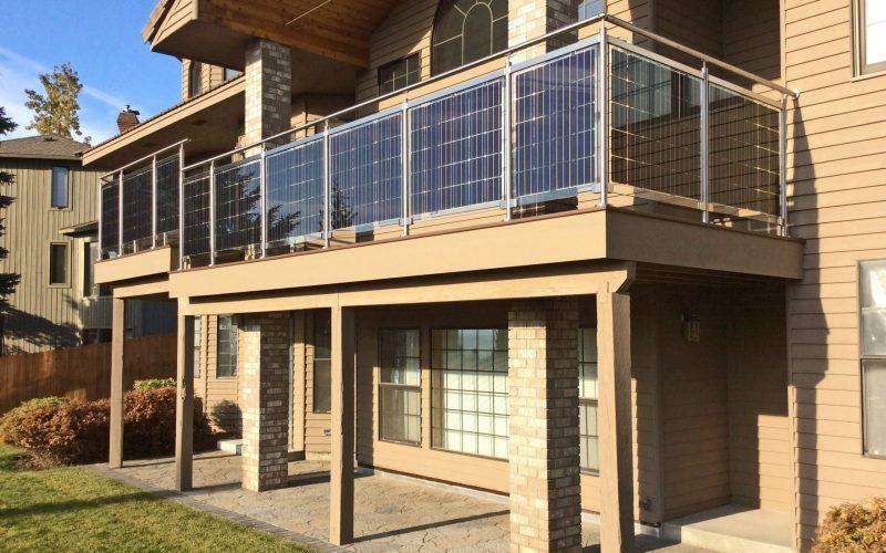 Solarelemente in der Fassade
